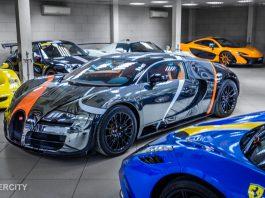 Black Chrome Bugatti Veyron Super Sport in Dubai