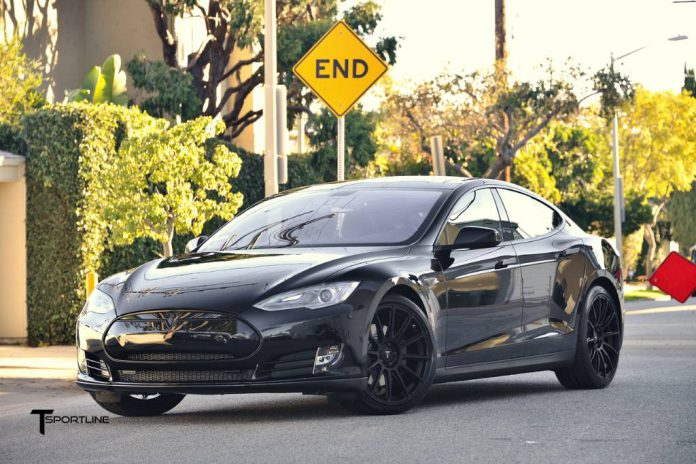 Black on Black Tesla Model S by T Sportline