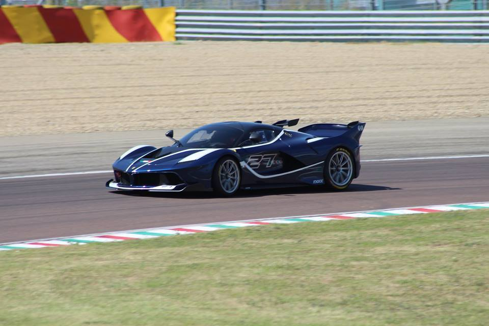 Tour de France Blue Ferrari FXX K side view