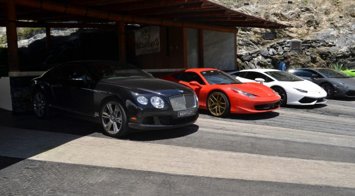 Bentley, Ferrari and Lambo