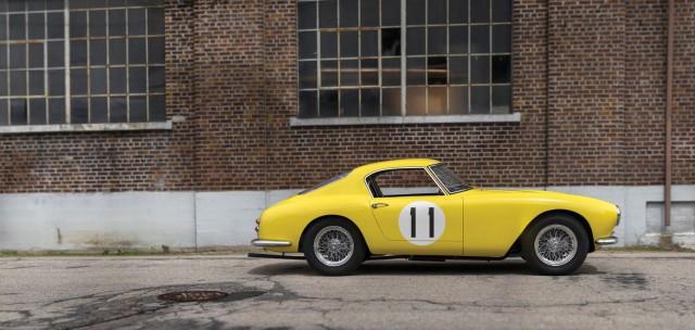 Ferrari 250 GT SWB Berlinetta Competizione Scaglietti Being Auctioned side