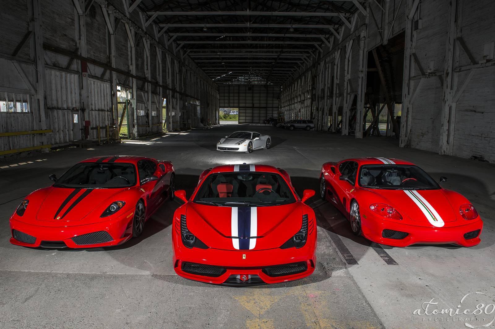 Ferrari 458 Speciale 430 Scuderia And 360 Challenge Stradale Photoshoot Gtspirit