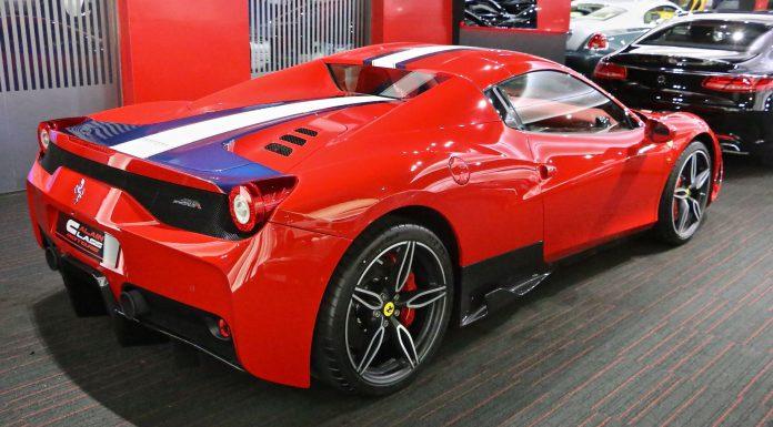 Ferrari 458 Speciale A for sale in Dubai rear