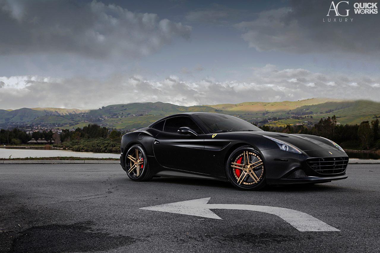 Stunning Black Ferrari California T With AG Luxury Wheels