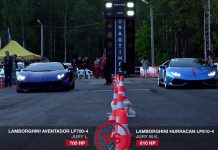 Lamborghini Huracan vs Aventador drag race