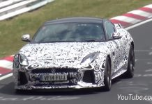 Jaguar F-Type SVR spied at the Nurburgring