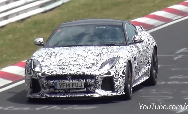 Jaguar F-Type SVR spied at the Nurburgring