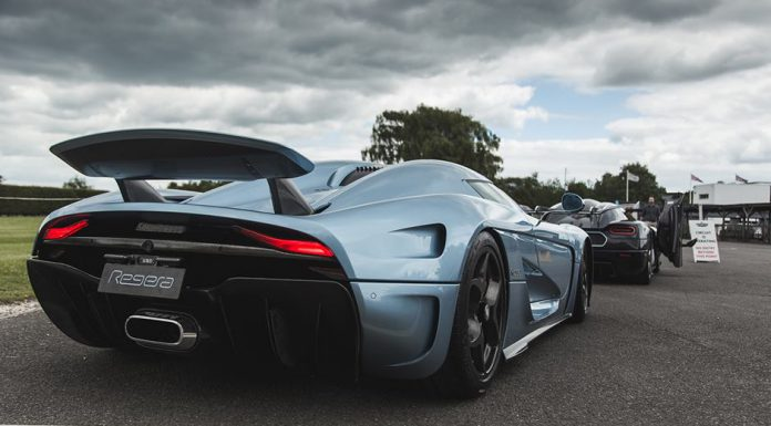 Rear of the Koenigsegg Regera at Goodwood Festival of Speed