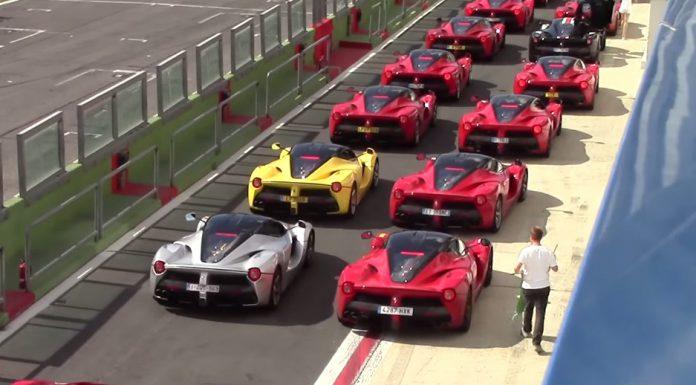 Insane LaFerrari gathering at Ferrari Cavalcade 2015