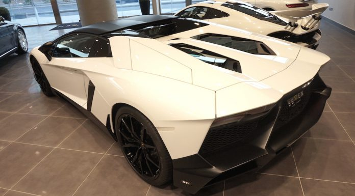 Lamborghini Aventador LP720-4 50th Anniversario Roadster for sale rear