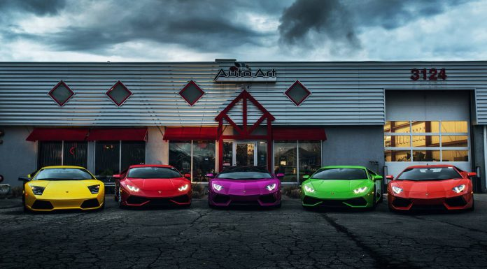 Lamborghini in many colors