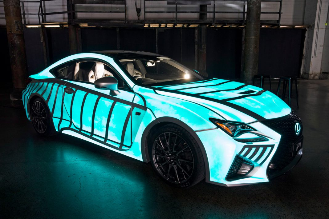 Lexus Previews RC F With Dynamic Glow-in-the-dark Paint