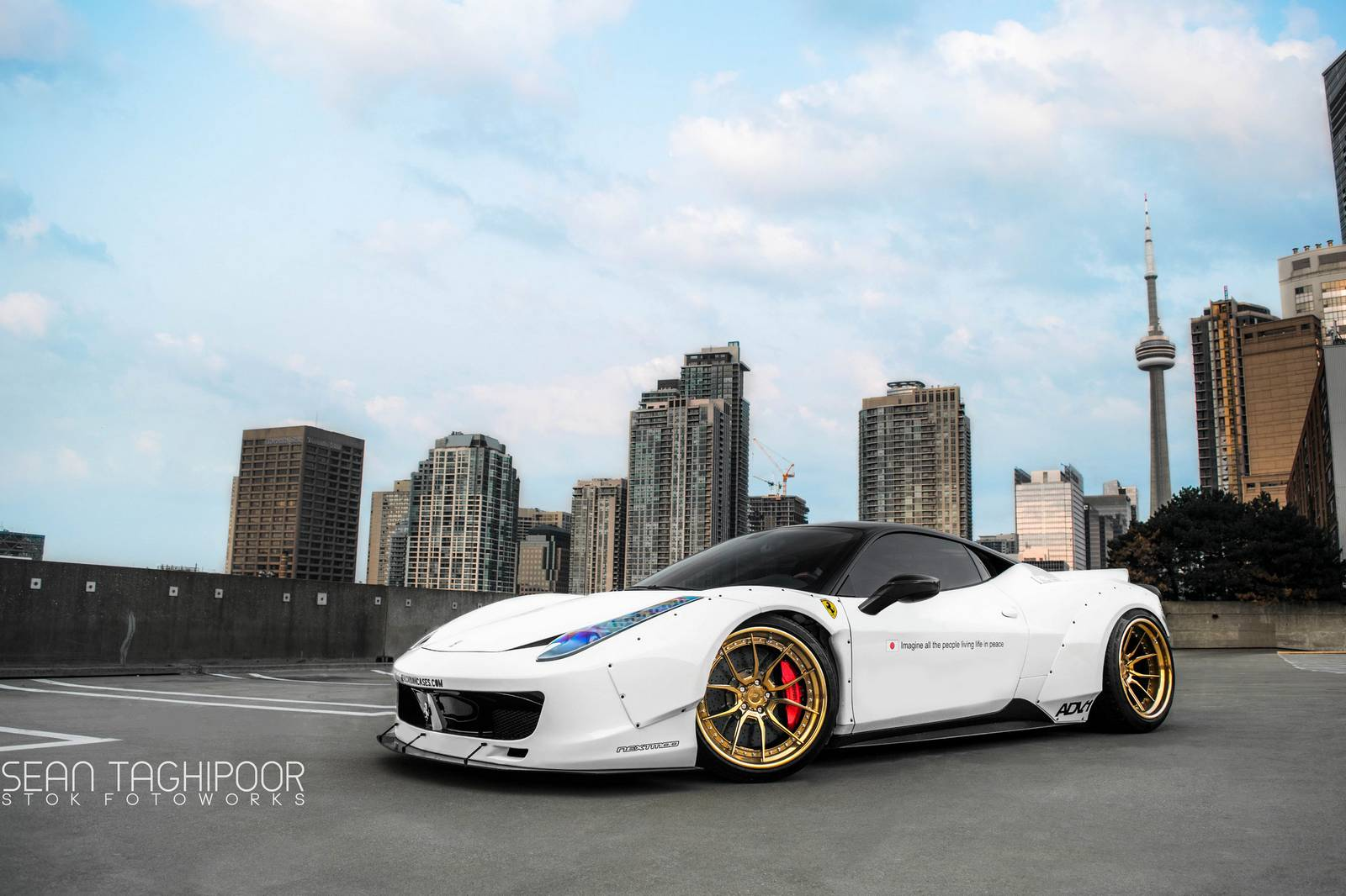 toronto 39 s first liberty walk ferrari 458 italia gtspirit. Black Bedroom Furniture Sets. Home Design Ideas