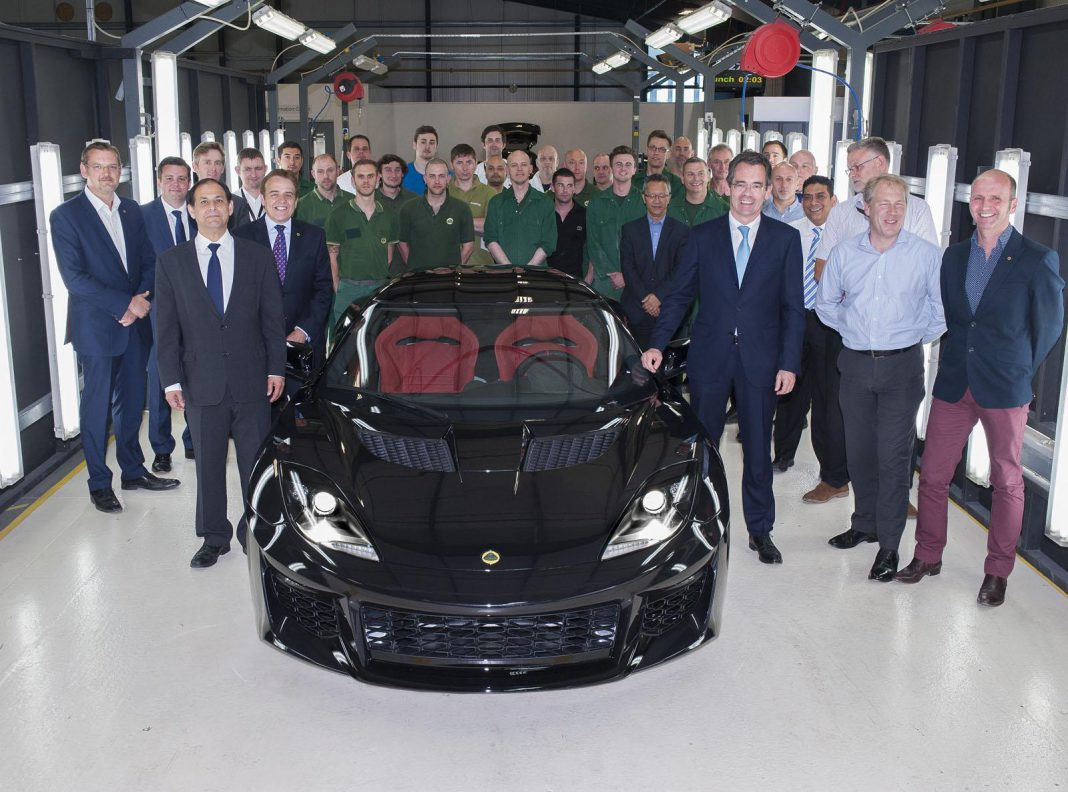 Lotus Evora 400 production begins