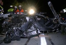 McLaren 12C crashes at 240 km/h