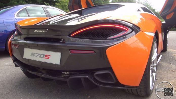 McLaren 570S roars at Goodwood