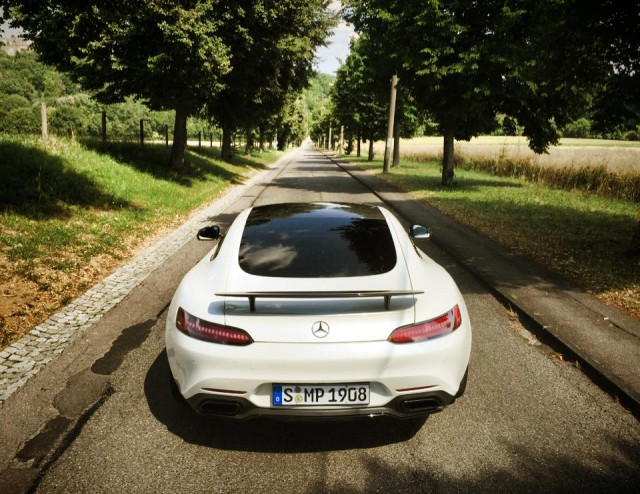 White Mercedes-AMG GT