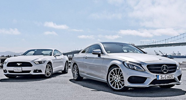 Mercedes-Benz C-Class Coupe rendered front
