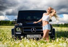 Hot Girl and G63 AMG