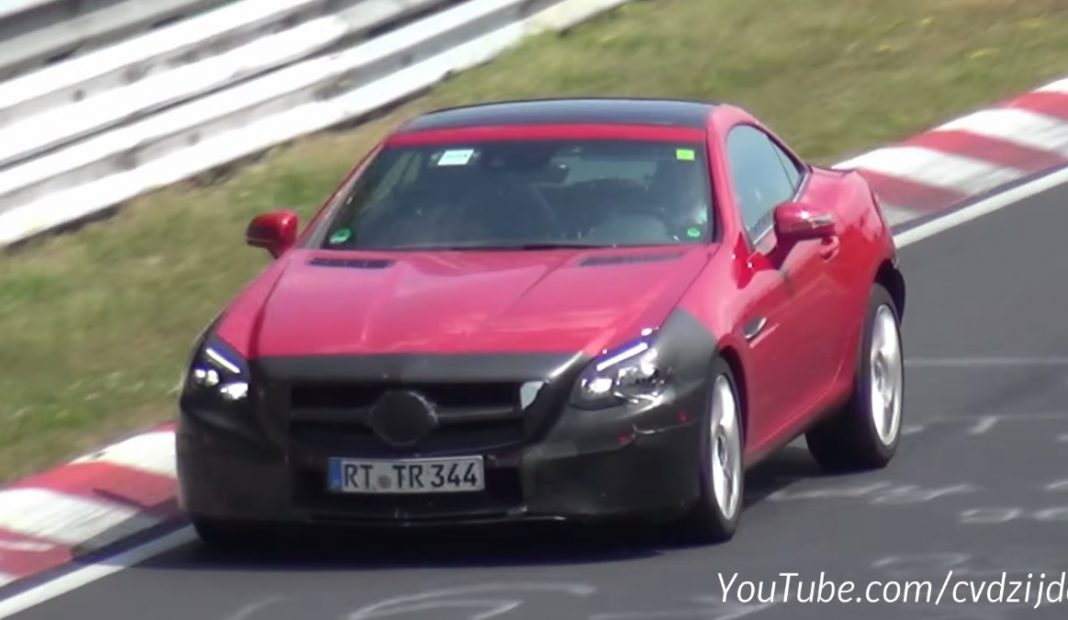 Mercedes-Benz SLC spied at the Nurburgring