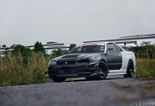 Nissan Skyline R34 GTR V-Spec II Nur front view