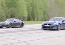 Porsche 911 GT3 vs Nissan GT-R drag race