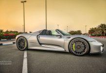 Porsche 918 Spyder for sale in Dubai front