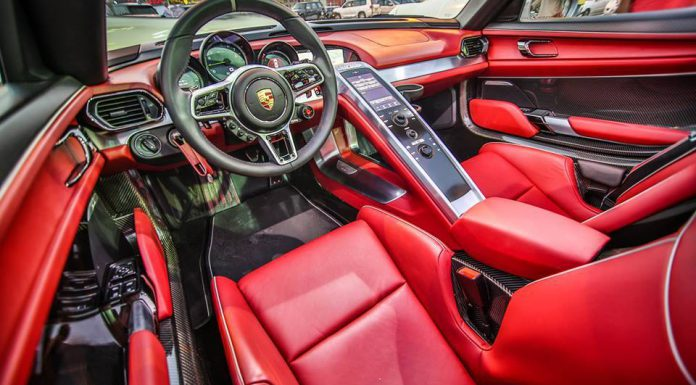 Porsche 918 Spyder for sale in Dubai interior