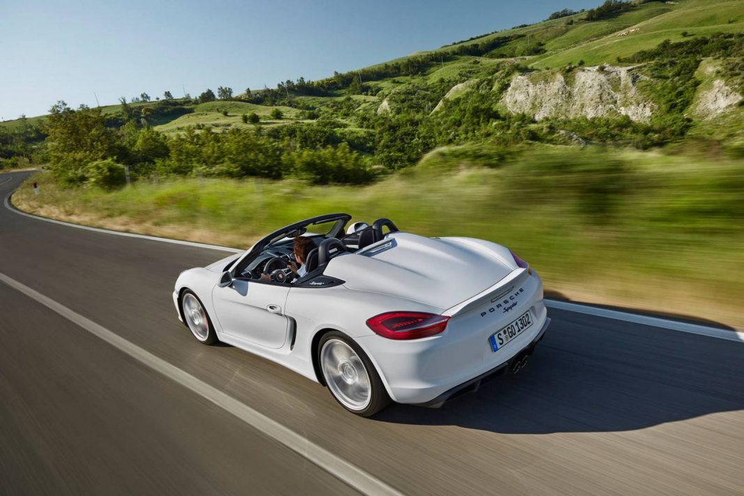 White Porsche Boxster