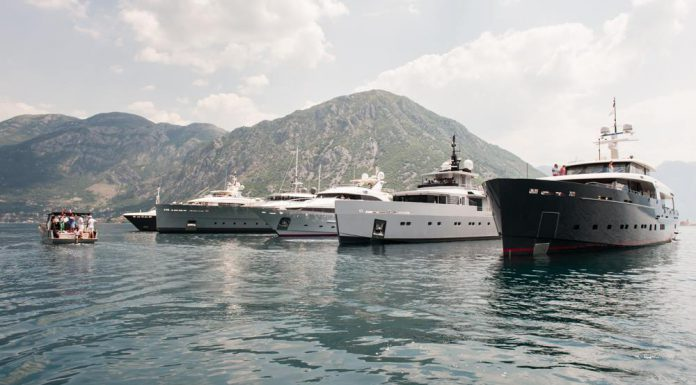 Superyacht lineup at Superyacht Rendezvous Montenegro 2015
