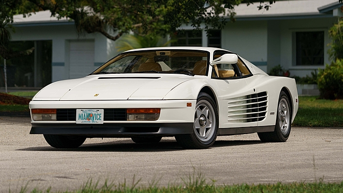 Miami Vice Ferrari Testarossa heading to auction