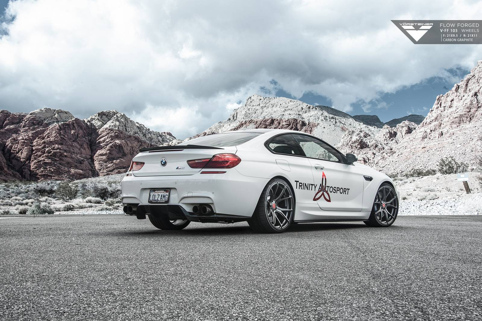 Bmw M6 Carbon: BMW M6 With Carbon Graphite Vorsteiner Wheels