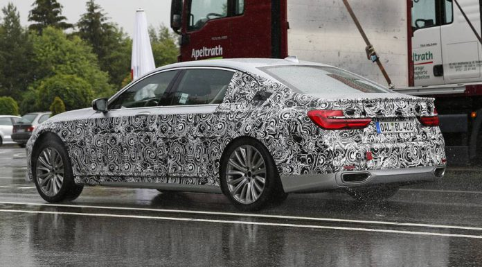 Next-gen Alpina B7 spy shot rear