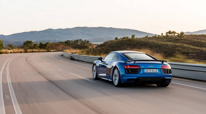 Ara Blue Audi R8 V10 Plus Rear