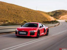 Dynamic Red Audi R8 V10 Plus