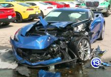 Chevrolet Corvette Z06 crash