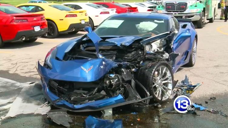 Two 2015 Corvette Z06s Damaged Gtspirit