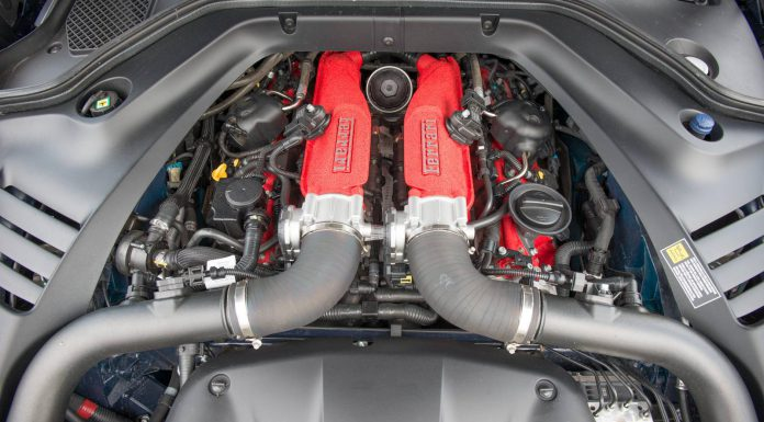 2016 Ferrari California T engine