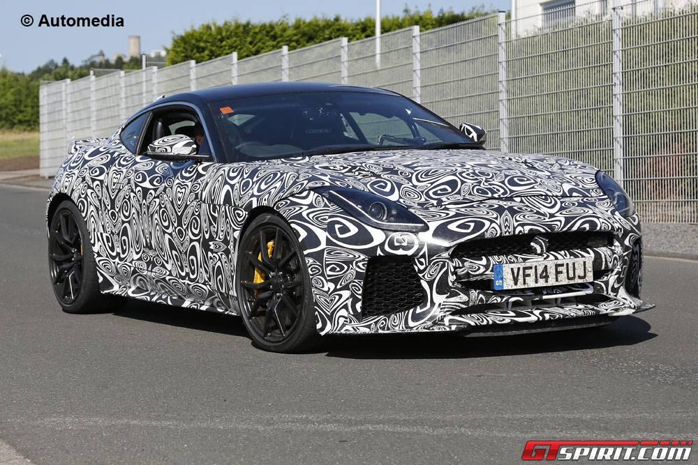 Jaguar F-Type SVR spy shots front