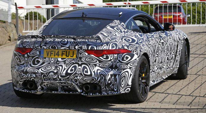 Jaguar F-Type SVR spy shots rear