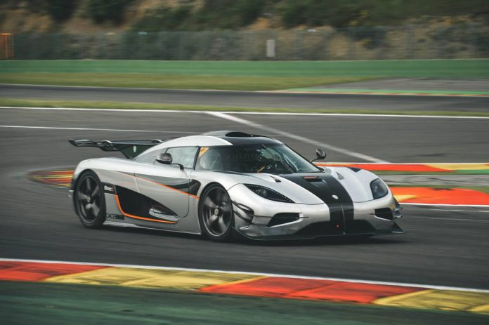 Koenigsegg One:1 sets Spa lap record