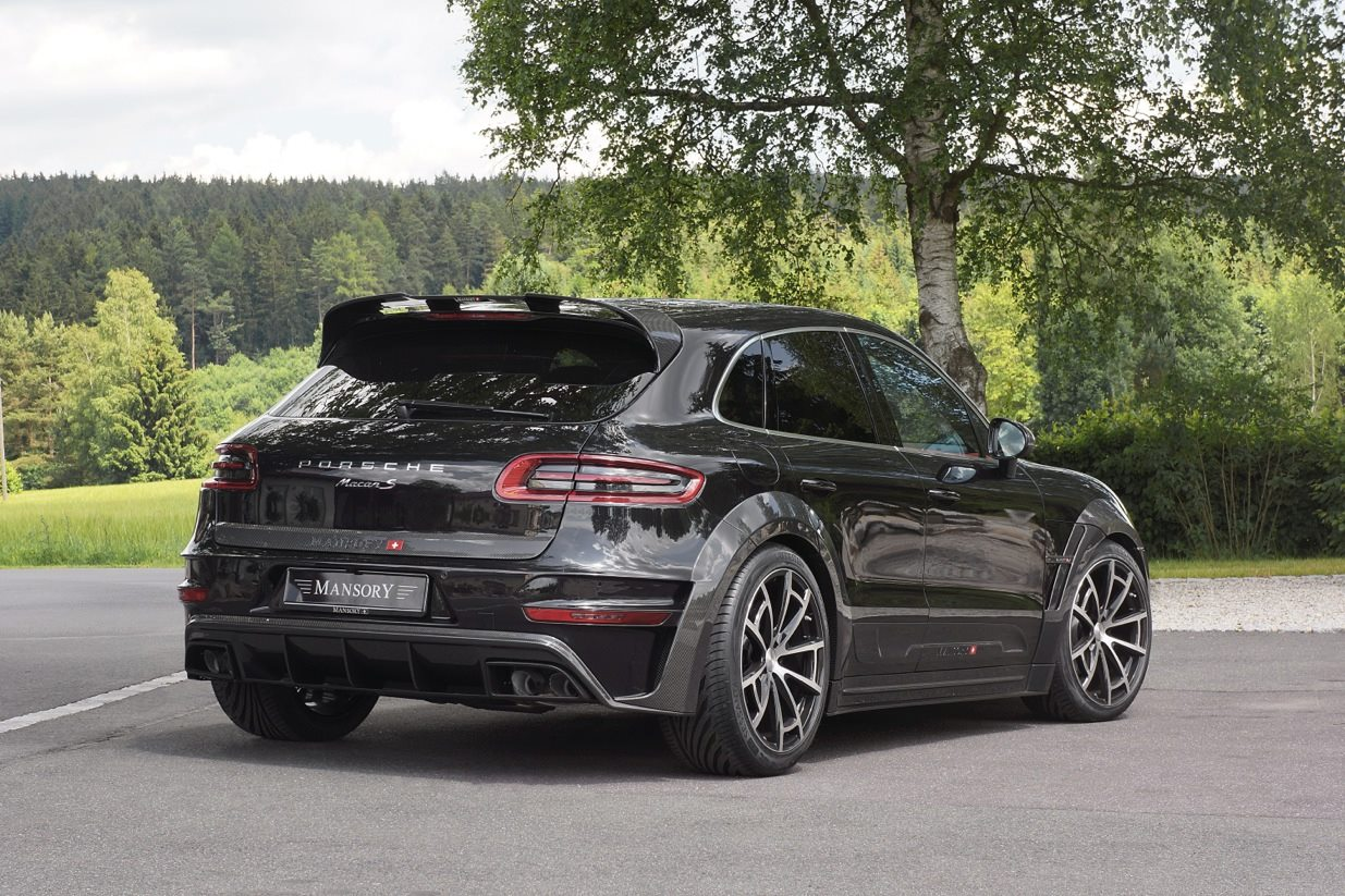 Stunning Black Mansory Porsche Macan Poses Gtspirit