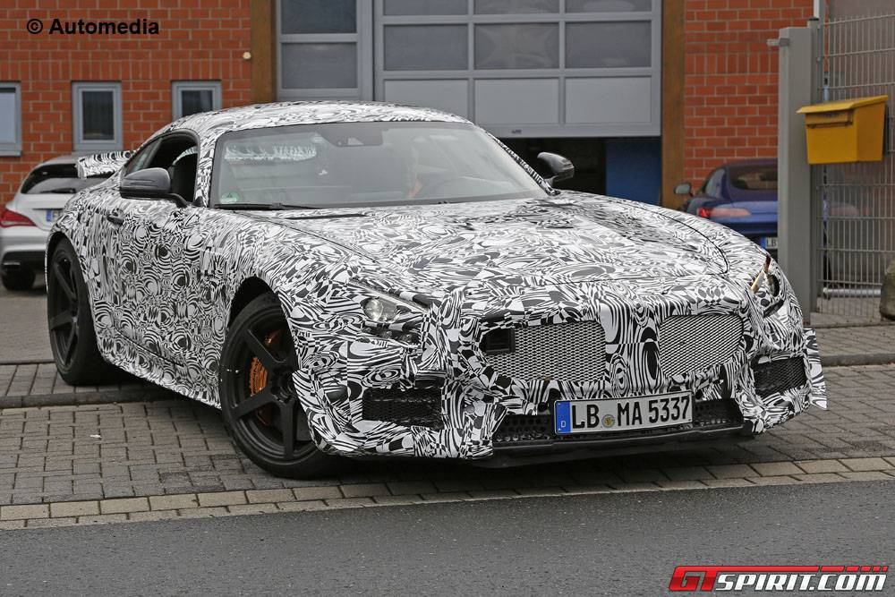 Mercedes-AMG GT3 spy shots from the Nurburgring front