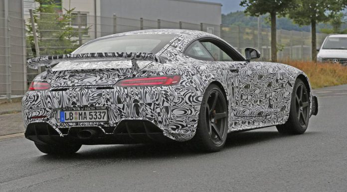 Mercedes-AMG GT3 spy shots from the Nurburgring rear
