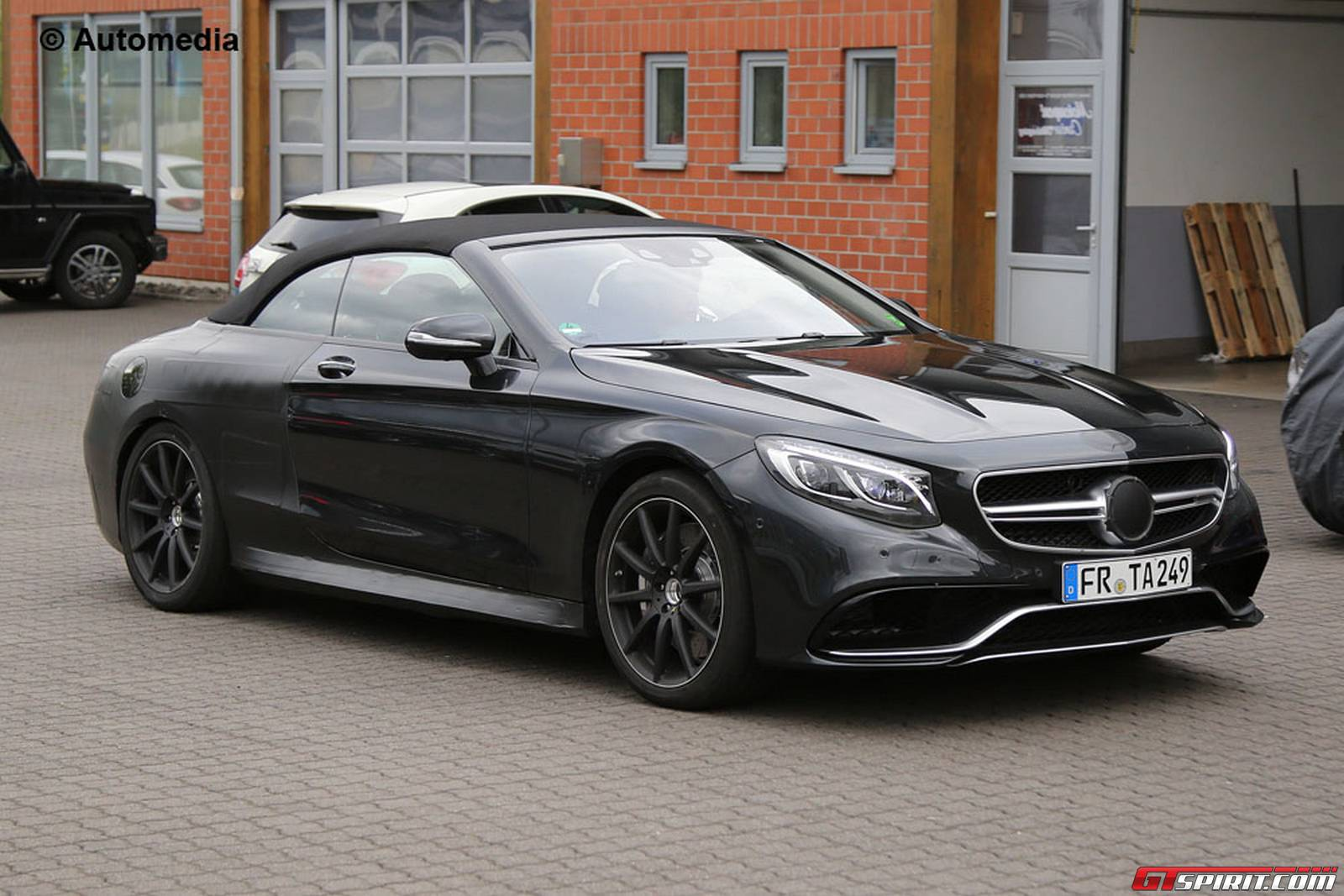 mercedes amg s63 cabriolet spied testing gtspirit. Black Bedroom Furniture Sets. Home Design Ideas