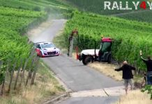 Video: Hyundai i20 WRC Escapes Tractor Crash Narrowly!