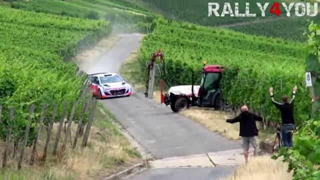 Video: Hyundai i20 WRC Escapes Tractor Crash Narrowly!