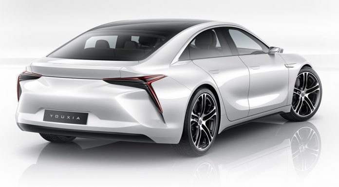 Youxia X, Tesla Model S rival rear