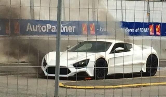 Zenvo ST1 on Fire in Copenhagen