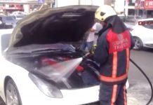 Ferrari F12 Berlinetta engine fire